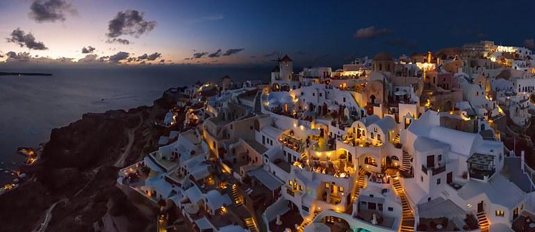 Večerní Santorini