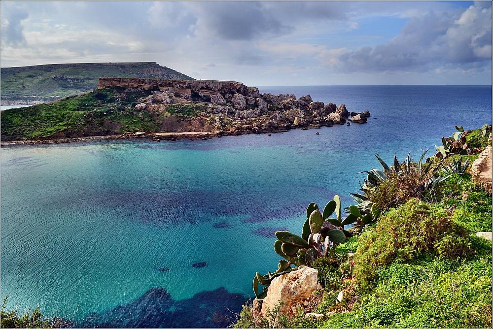 Zátoky jsou malebné po celé Maltě, Robert Pittman